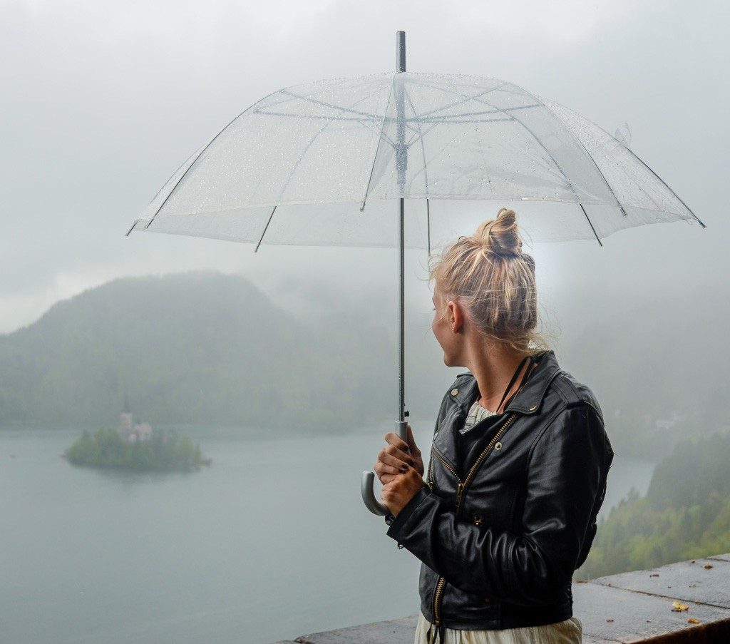 Visiting Lake Bled in the Rain