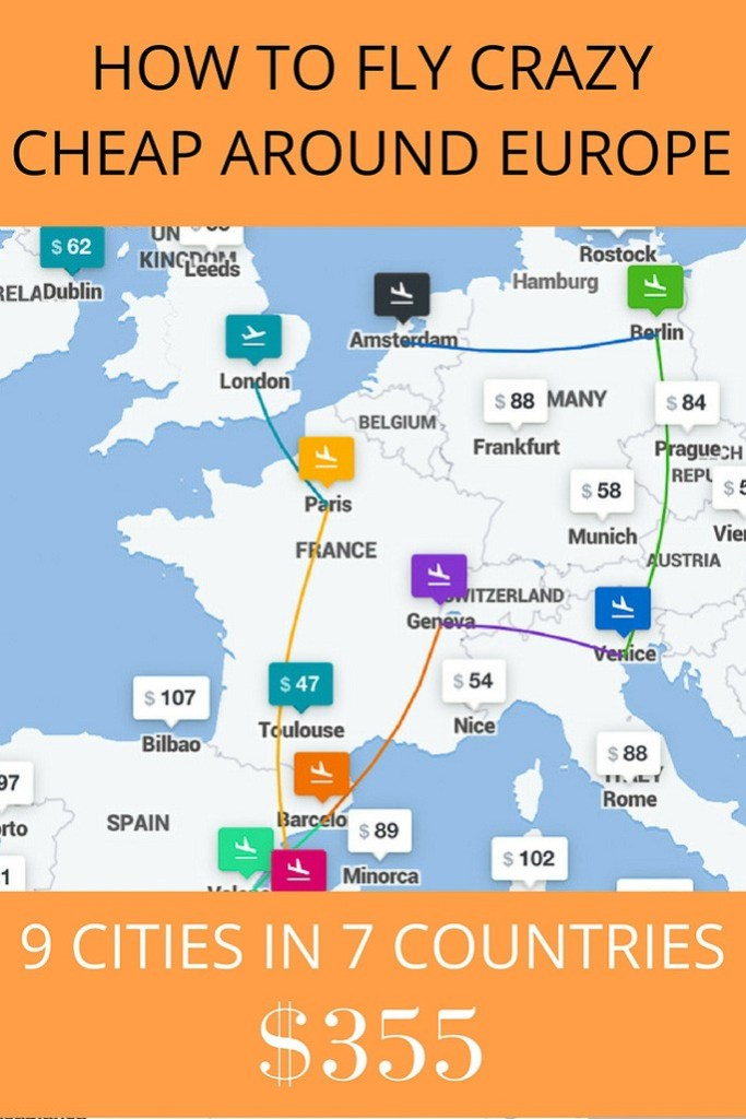 Book Cheap Flights Around Europe With This Trick (In This Example ...
