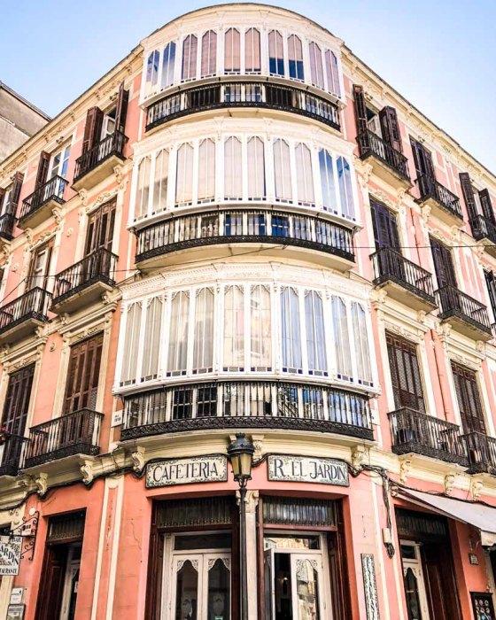 malaga buildings spain