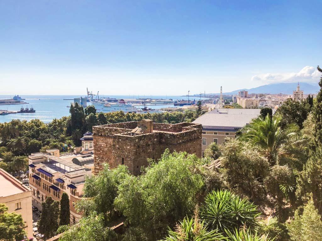 view from the alcazaba malaga spain