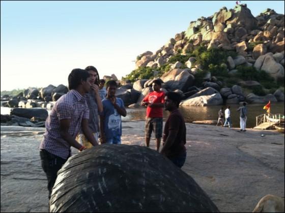 hampi karnataka india boulders