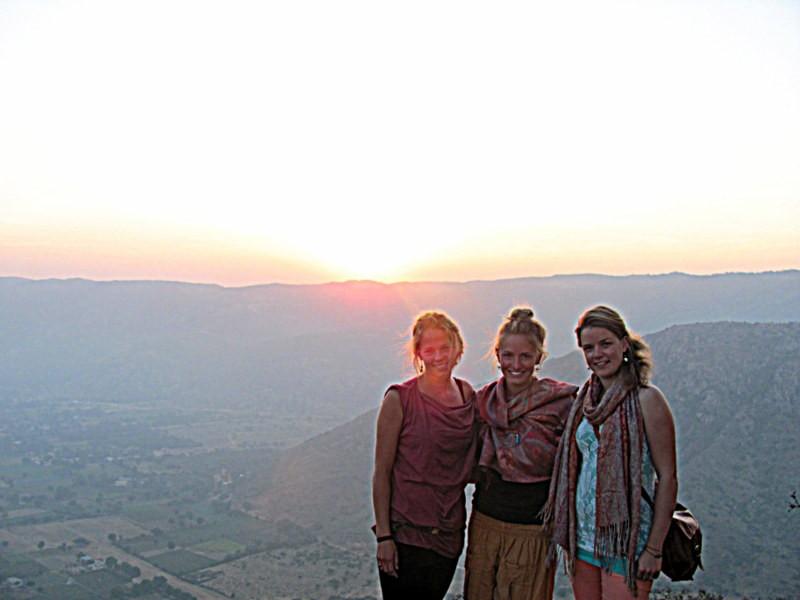 sunrise, india, pushkar