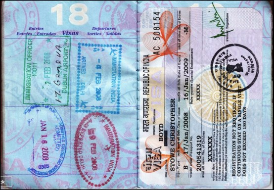 travel paperwork documents