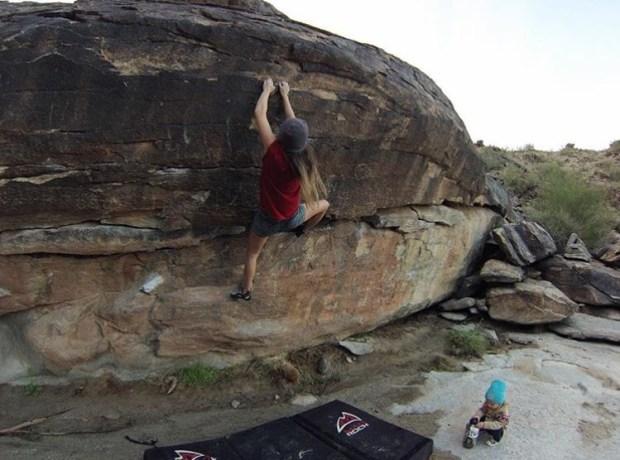 Morgan Brechler Hadlie Free Climb Rock