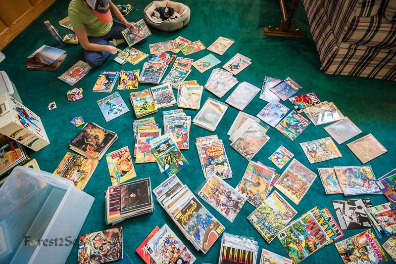 CrtrGrl going through my comic books from jr high school