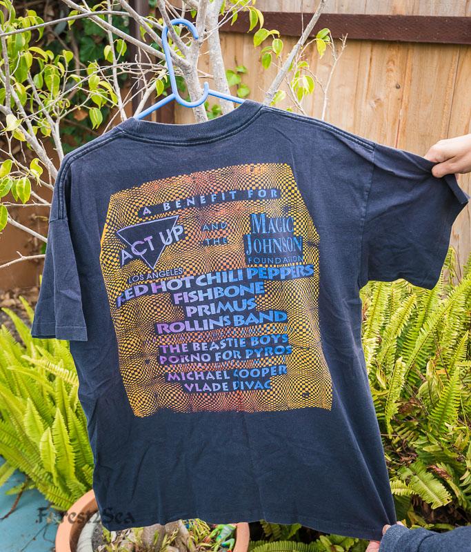 CrtrGrl's RHCP benefit concert tshirt was sold on eBay