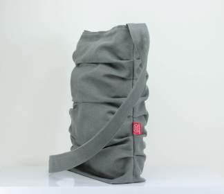 Gray Canvas Tote Bag