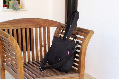 Dark brown canvas purse bag