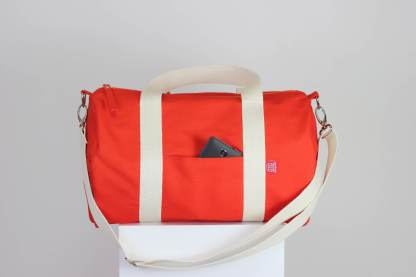 orange duffle sports bag