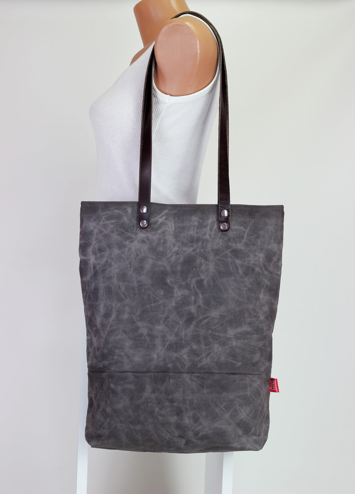 0081f149e2af ... shoulder use magnetic snap closure fully cotton lined simply minimalist  useful large. 🔍. Waxed tote bag with leather strap · Waxed tote bag with  ...