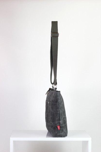 gray waxed unisex messenger