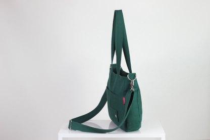 green canvas purse bag