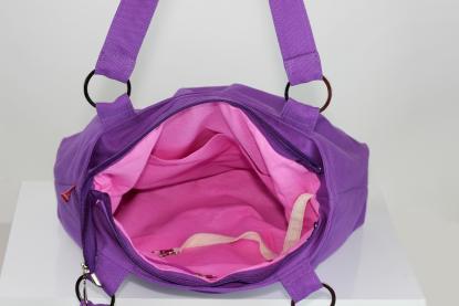 lilac shoulder canvas purse bag