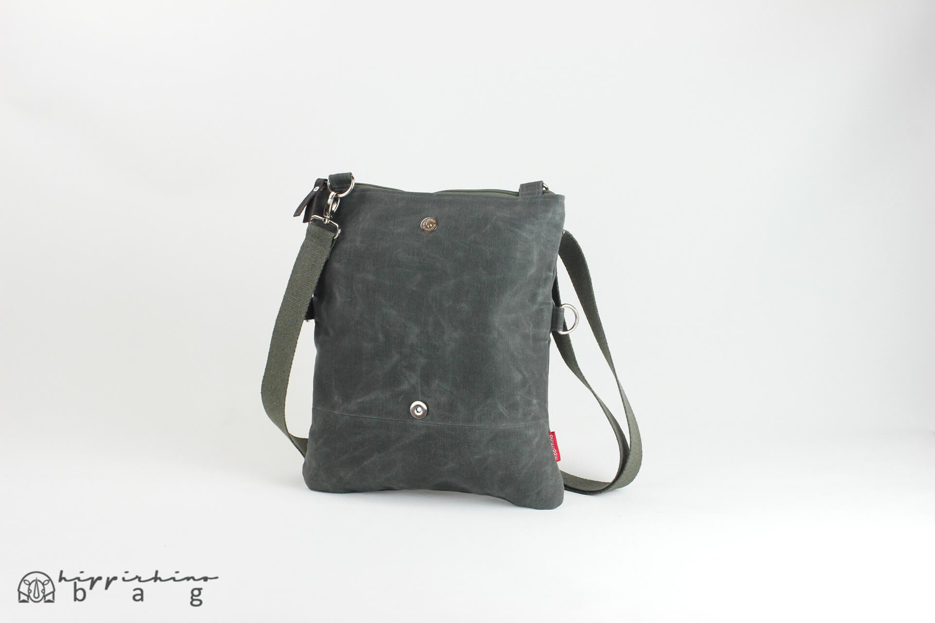 10c97a6a9b0e Grey waxed folded clutch small bag crossbody shoulder bag waterproof ...