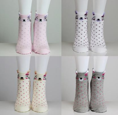 3D Ear Cat Kitty Socks