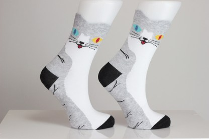 Colorful Cat Socks