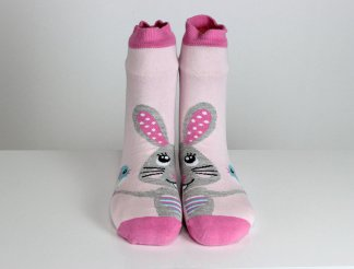 Rabbit Pink Socks