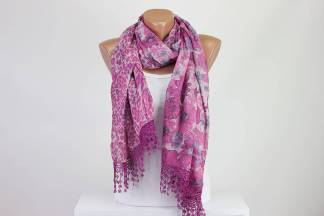 Pink Double Face Scarf