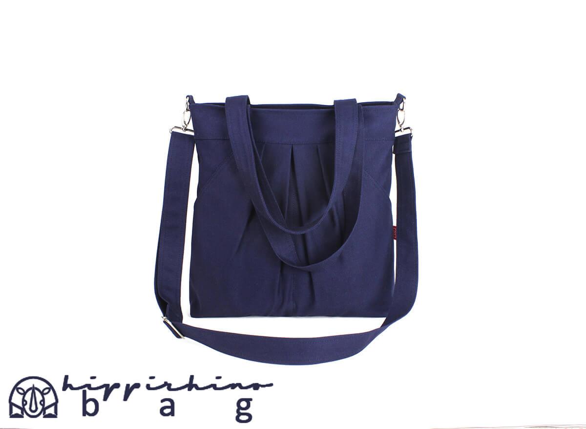 Dark Blue Tote Bag Washable Two Large Exterior Pocket Large Bag ... ce360744f940c
