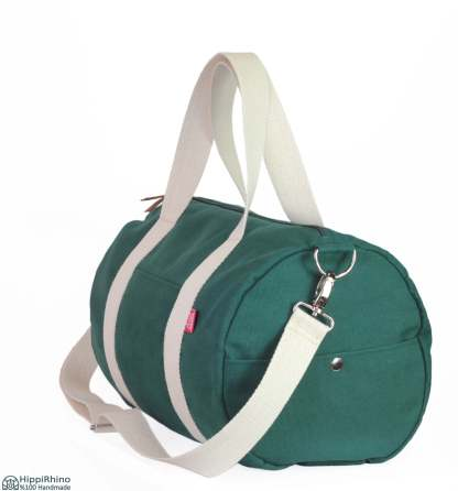 Green Washable Cotton Duffle Duffel Bag