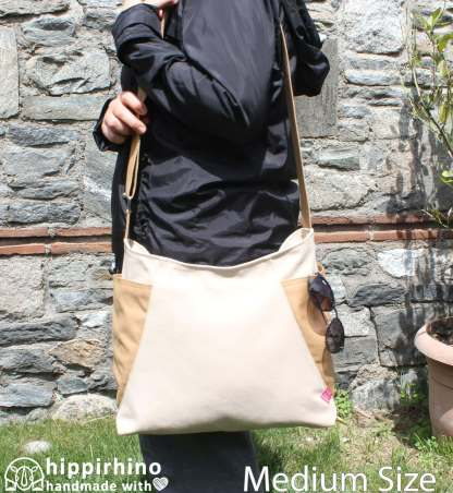 Two Color Canvas Hobo Bag