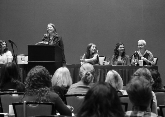 author panel at hippocamp 2015 amy jo burns lisa jakub and kathleen frazier