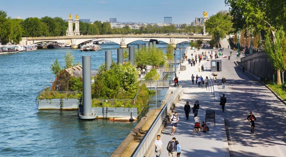 Jardins Flottants Pont de l'Alma 75007