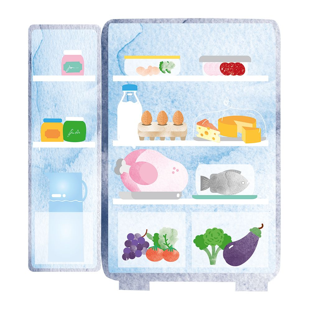 hight resolution of how to organise your fridge