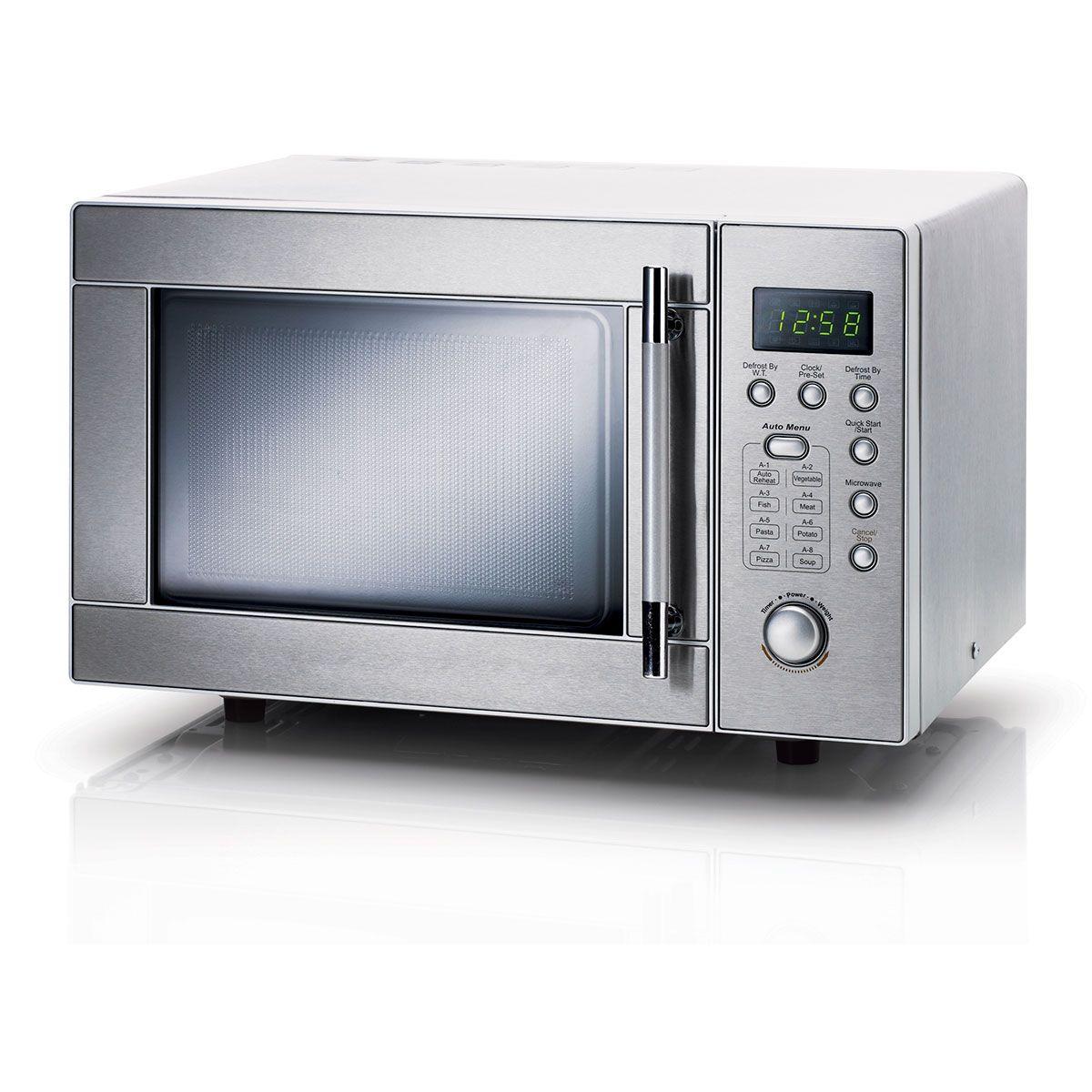 stainless steel digital microwave oven