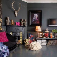 Bohemian Living Room Wall Ideas Modern Pictures For Rooms