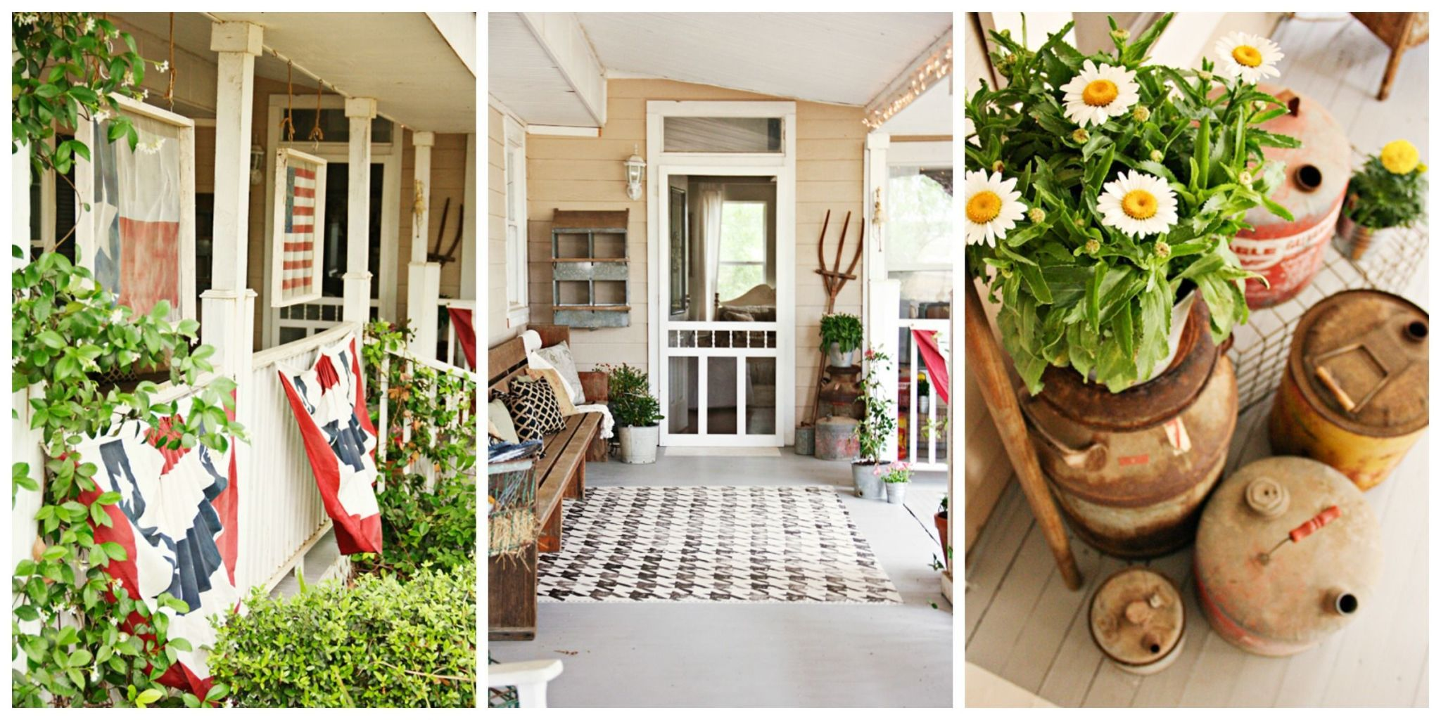 5 affordable front porch decorating