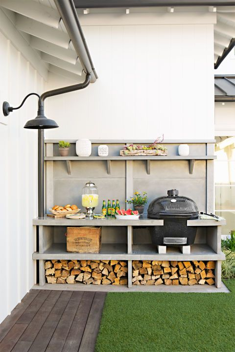 If cooking out is a big part of your warm weather routine, an outdoor kitchen is a great investment. Modern Dirty Kitchen Design Outdoor