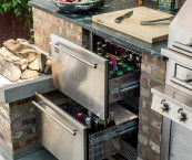 outdoor barbecue kitchen
