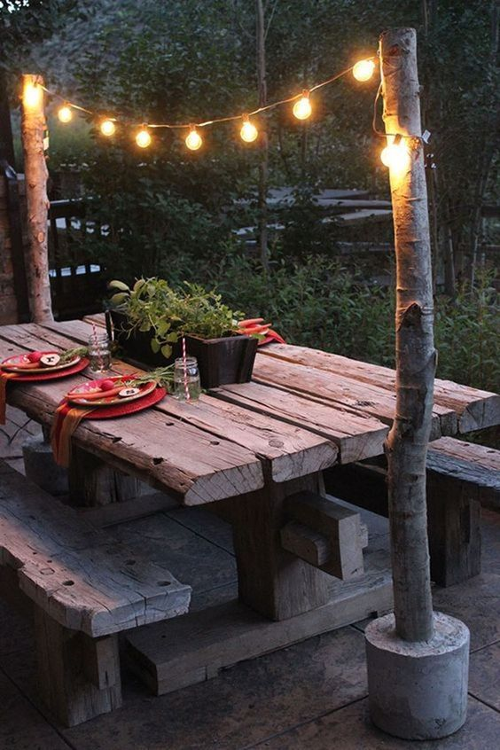 how to hang outdoor string lights