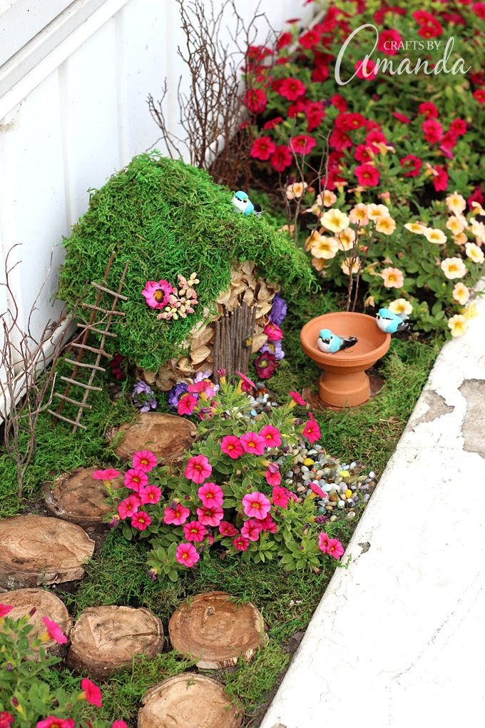 Fairy Garden Ideas: Planter Box Fairy Garden