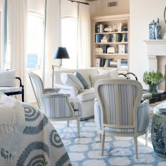 Decorating Ideas Living Room Blue Without Fireplace And White Rooms With 18 Classic Ways To Decorate