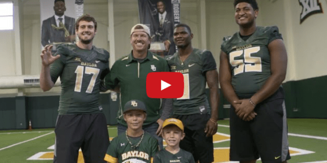 Chip Gaines Visits Baylor Football Practice  Chip and