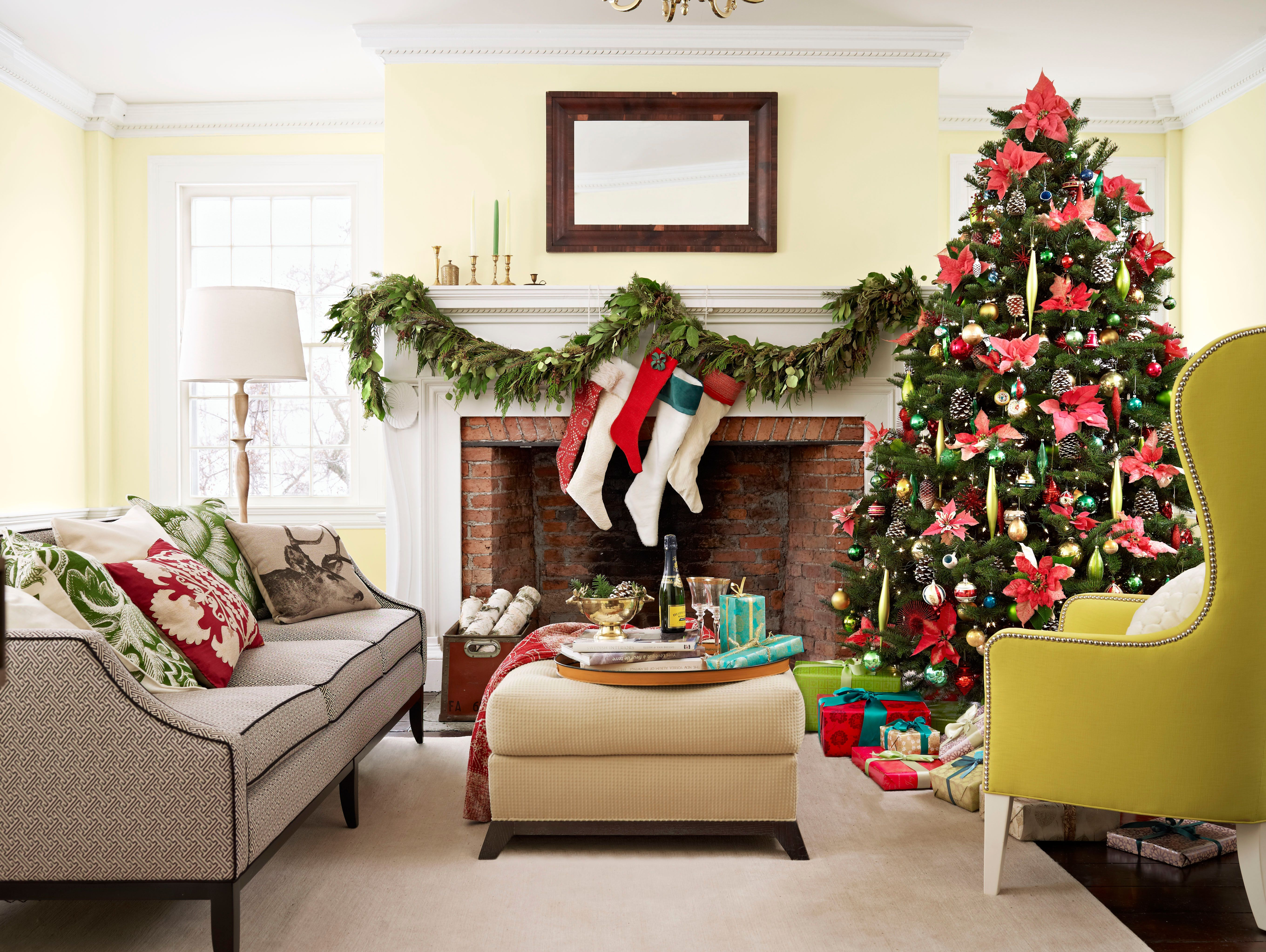 christmas decorating ideas for small living rooms room wall art decor 110 country decorations holiday 2018