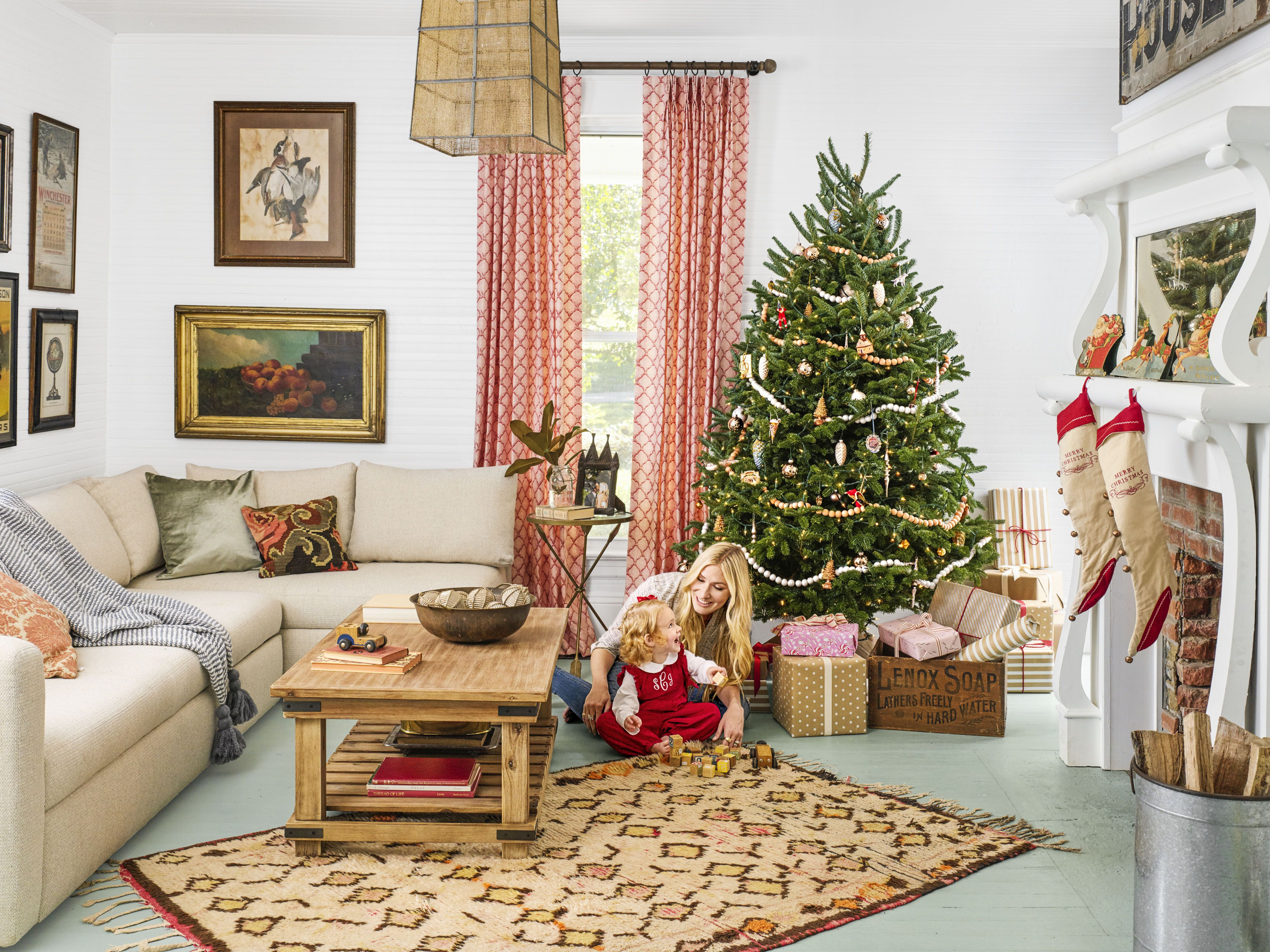 ideas for decorating my living room christmas ashley furniture 110 country decorations holiday 2018