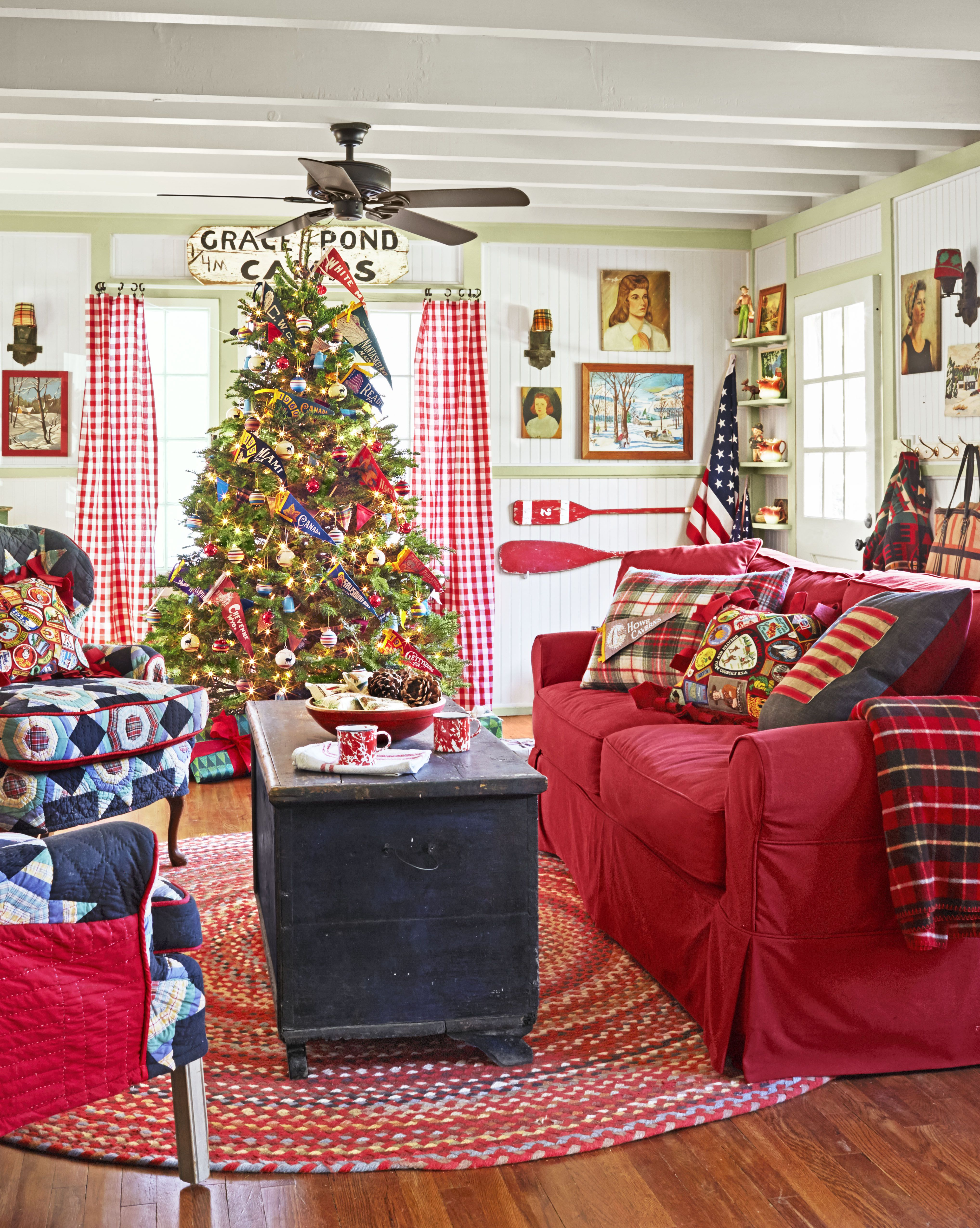 decorate small living room for christmas house decor ideas the 110 country decorations holiday decorating 2018