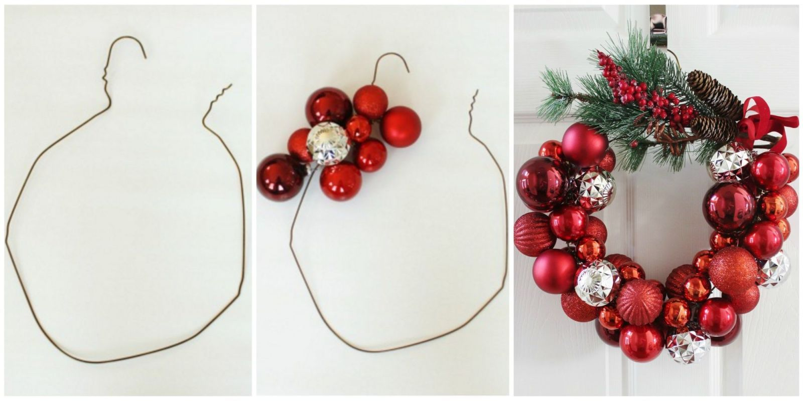 How To Make A Christmas Wreath With A Wire Hanger DIY