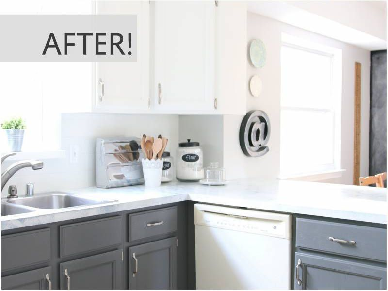 updated kitchens kitchen barn doors 10 diy cabinet makeovers before after photos that prove a little tlc goes long way