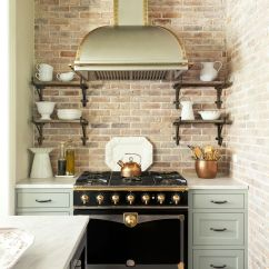 Kitchen Backsplash Photos Vintage Posters For Inspiring Ideas Granite Black Appliances Emily Gilbert Brick