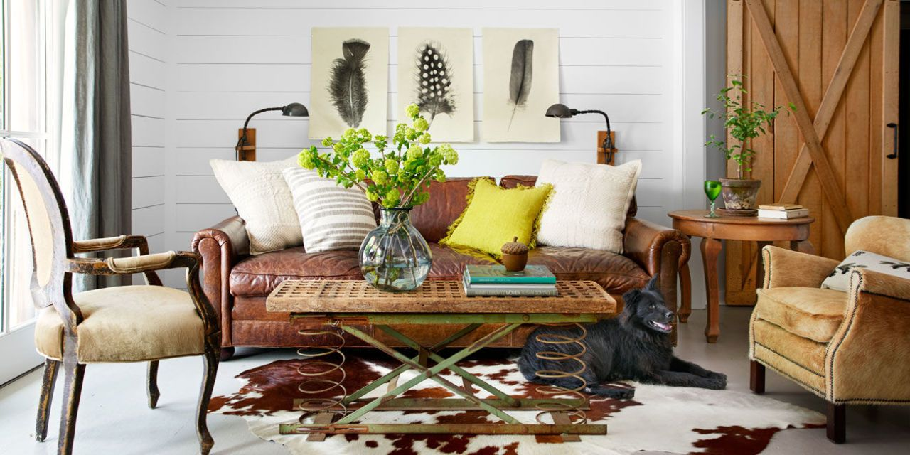 ideas for living room wall art orange and brown curtains 20 rustic farmhouse decor image
