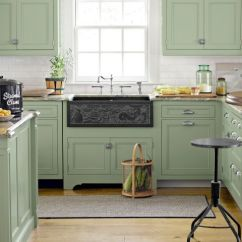 Green Kitchen Cabinets Sinks Kohler 10 Ideas Best Paint Colors For Kitchens