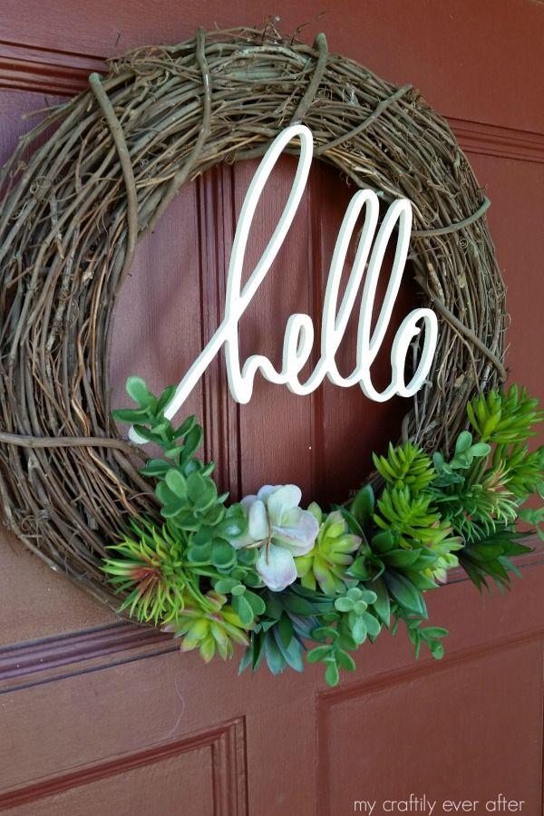 19 DIY Summer Wreath Ideas  Outdoor Front Door Wreaths for Summer