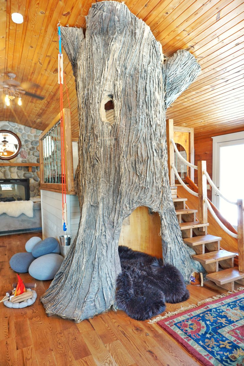 living room built in decorating ideas oriental rug design indoor tree house - how a blogger indoors