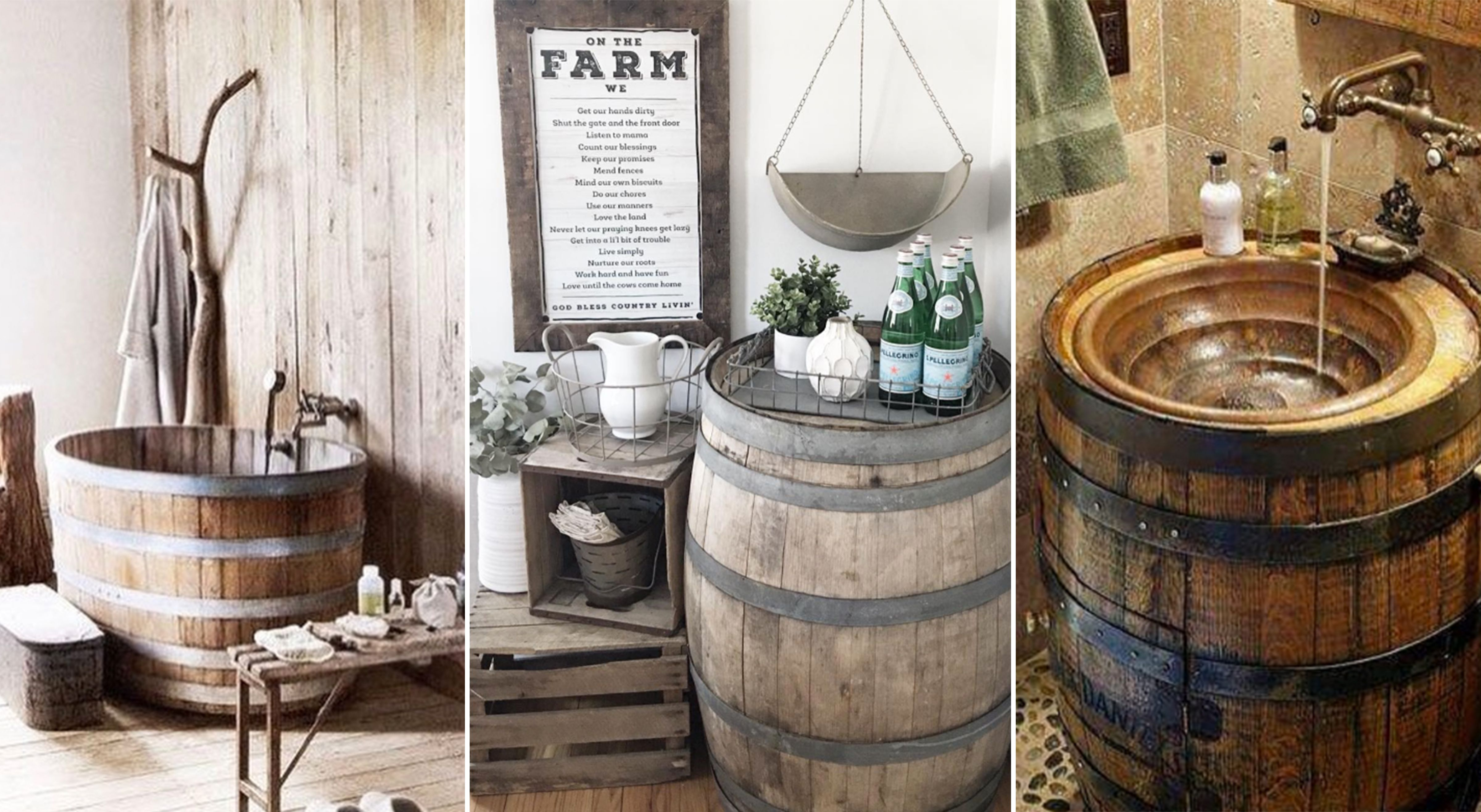 repurposing whiskey wine barrels