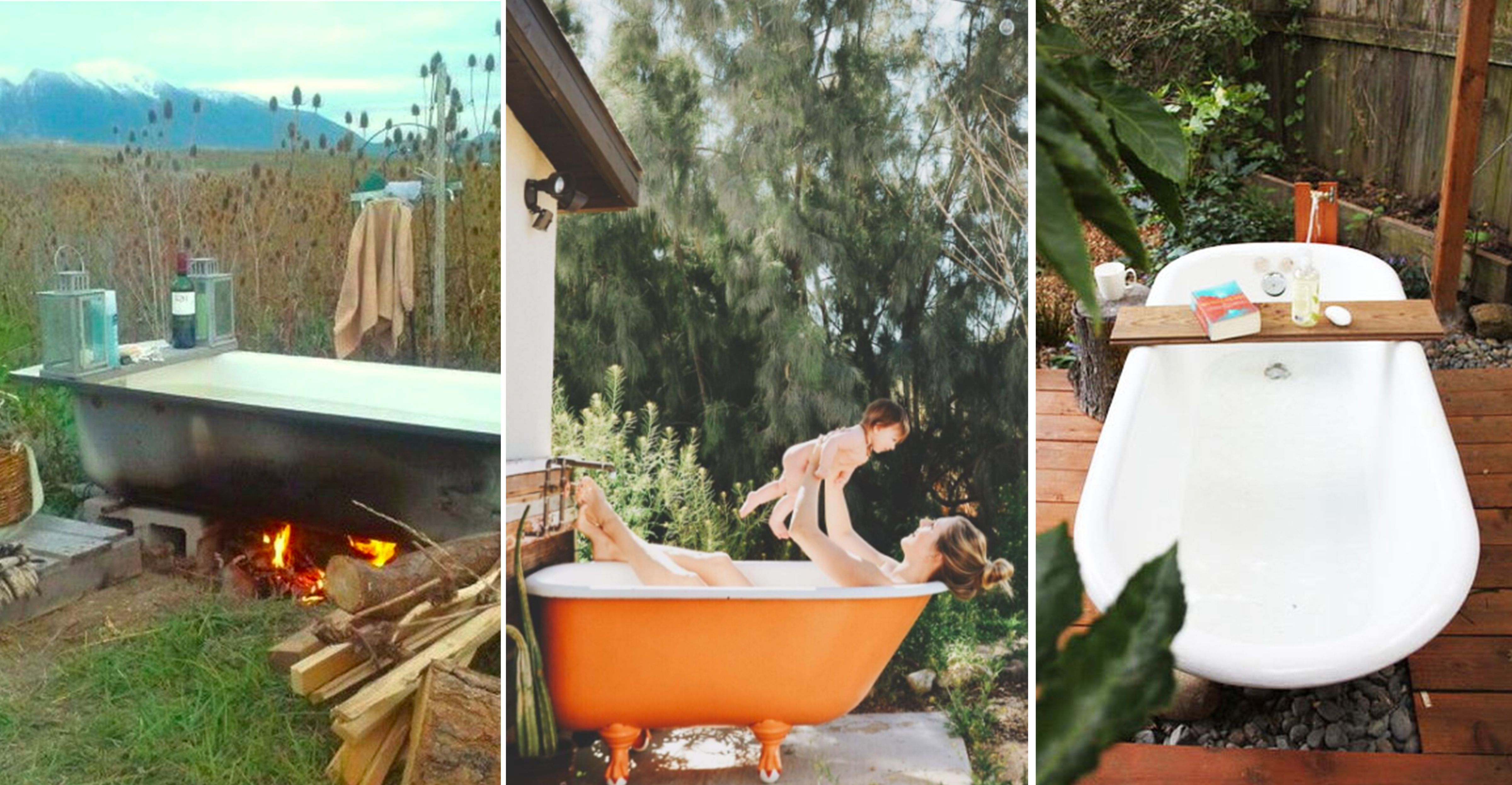 Backyard Bathtubs For Soaking Up The Great Outdoors
