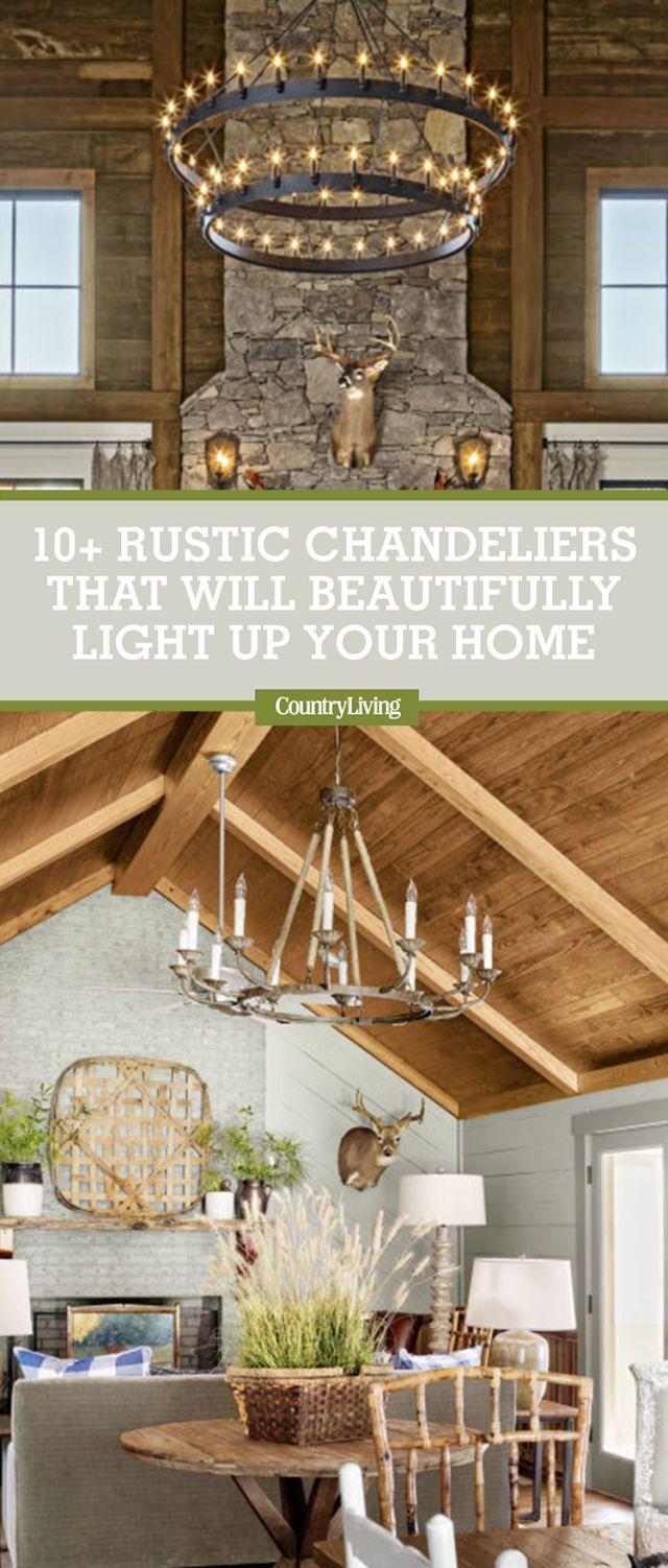 12 rustic chandelier ideas best